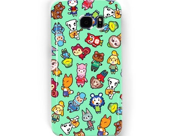 Chibi Animal Crossing Pattern ~ Wild World / New Leaf ~ iPhone / Samsung Galaxy Phone Case Cover