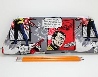 Star Trek Pencil Case.  For Star Trek Fans.  Zippered Pencil Pouch.