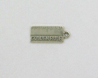 Sterling Silver Golden Rule Charm