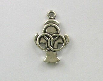925 Sterling Silver Holy Trinity Charm, Spiritual & Religious Theme Jewelry - rel27