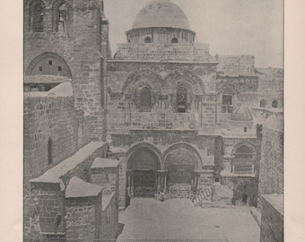 Jerusalem Church of The Holy Sepulchre Dead Sea Palestine Garden of Gethsemane Prints of 1892 Photographs of Famous Scenes  Charles H Adams