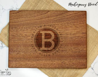 Personalized housewarming gift, Real Estate Closing Gift, new home gift, cutting board personalized cutting board - 042