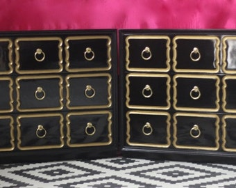Dorothy Draper Espana Chest -PAIR Custom Lacquered