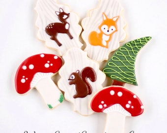 Half Dz. Forest (Woodland) Animal Cookies! Woodland Critters for All Occasions!
