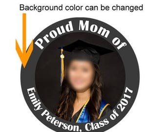 "3.5"" graduation ceremony button,personalize graduation button badge,high school graduation,college graduation,class of 2018"