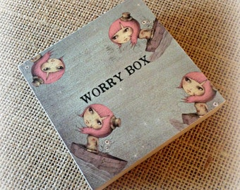 Worry Box - Boat Girl Design - Children & Adults - Handmade with Love in England