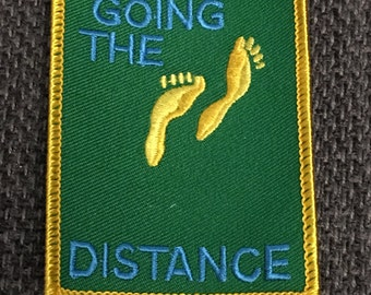 Going The Distance Patch (1) - large cake travel adventure survival scout fun kjallraven Hershel keep going