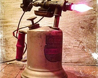 Upcycled Blowtorch lamp