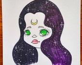 Pretty Girl - Halloween - Drawing - Inktober - Sketch