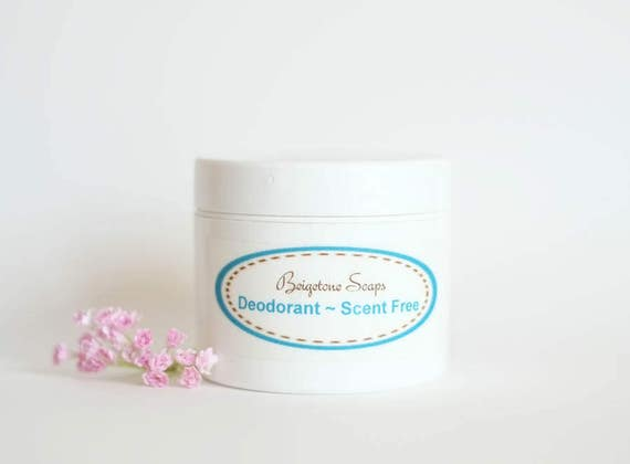 Creamy Unscented Deodorant | 2oz Jar | All Natural | Aluminum and Paraben Free | One Jar Lasts Up to 6 Months!