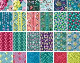 Free Spirit Splendor by Amy Butler ~ Fat Quarter BUNDLE of 24 ~ 100% Cotton Floral Fabric