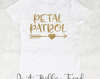 Petal Patrol Shirt, Flower Girl Gift, Flower Girl Shirt, Petal Patrol, Ring Bearer Gift, Flower Girl Shirts, Wedding Shirts, Petal Princess