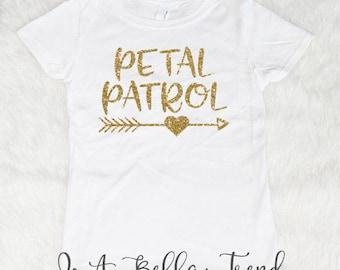 Petal Patrol Shirt, Flower Girl Gift, Flower Girl Shirt, Petal Patrol, Ring Bearer Gift, Flower Girl Shirts, Wedding Shirts, Petal Princess