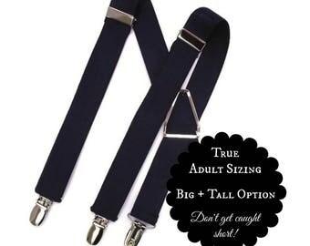 Black Suspenders, Men's Suspenders, Adult, Wedding Party, Ring Bearer Gift, Page Boy, Baby, Kids, Toddler Suspenders, Infant, Boys, Groom