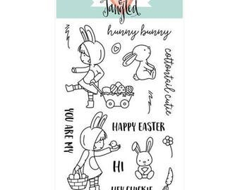 Neat and Tangled -COTTONTAIL CUTIES -Clear Stamp Set