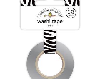 Doodlebug Design - At the Zoo Collection - Washi Tape - Zebra