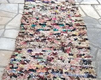 """Moroccan rug boucherouite 400 (boucharouette) 82 x 35 1/2"""""""