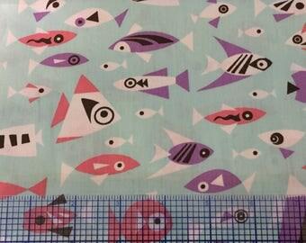 "Pink/PurpleFish Fabric Finders 60"" wide"