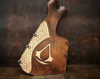 Assassin's Creed Full Length Arm guard / Bow Hand Glove Combo - Archery Arm Guard - Archery Bracer