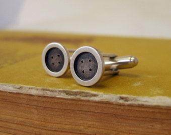 Sterling Silver Cufflinks, Buttons