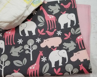 Baby Girl Gift Ideas | Baby Changing Mat | Portable Changing Pad | Diaper Clutch with Changing Pad | Travel Changing Pad | Baby Shower Gift