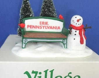 Dept 56 Our Own Village Park Bench Erie Pennsylvania HV Accessory