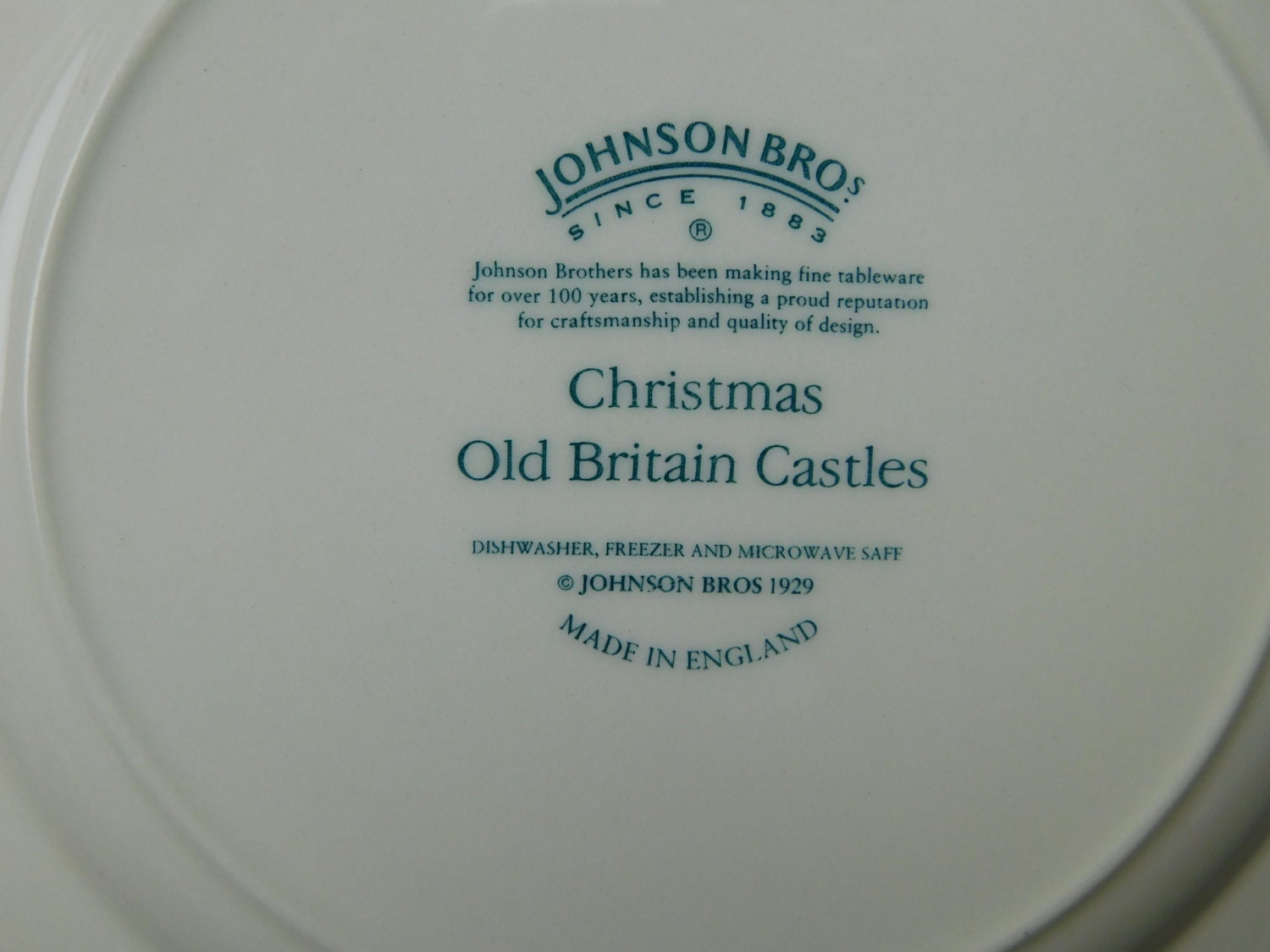 Johnson Brothers Old Britain Castles Christmas