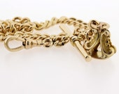 Gold Filled Pocket Watch Chain with Fob