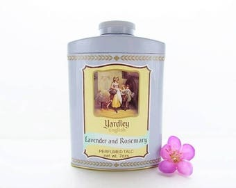 Vintage Yardley Lavender And Rosemary Perfumed Talc Shaker, Vintage Yardley of London