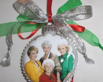 The Golden Girls  Tv Show inspired Tribute Christmas Ornament