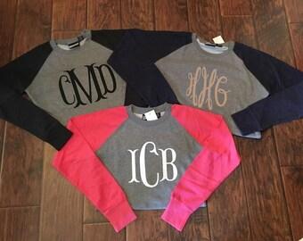 Monogrammed Raglan Sweatshirt