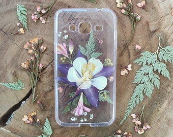 The Columbine Flower • Pressed Flower Phone Case