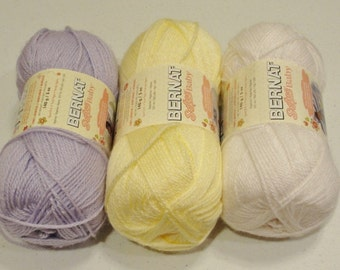 BERNAT SOFTEE Baby Yarn*Acrylic Yarn*White*Destash*Clearance*Sale