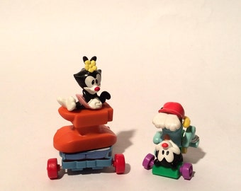 Vintage 1990s Animaniacs Set of 2 figurines/happy meal/mc donalds/collectible/cake topper