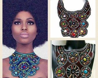Bohemian Style Statement Bib Necklace