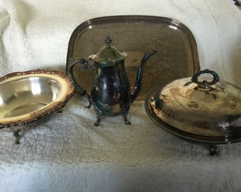 Lot of 5 silver servering Leonard & more