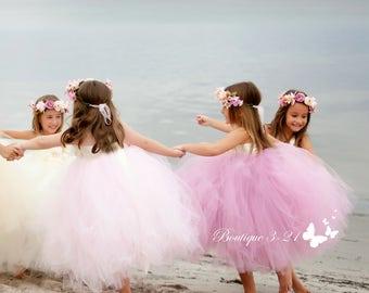 Mauve tutu dress, Mauve Flower Girl Dress, Ivory Tutu Dress, Ivory Flower Girl Dress, Dusty Rose Flower Girl Dress, Dusty Rose Tutu Dress