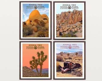 Joshua Tree National Park Poster - Joshua Tree Art - WPA Poster - WPA Art - WPA - National Park Poster - Joshua Tree California - Desert Art