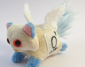 Elemental Cats: Oxygen - OOAK handmade periodic table science art doll soft toy