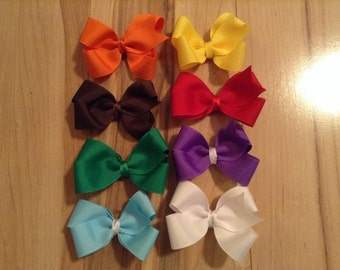Solid Color Bow Set
