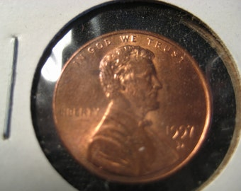 1997D DOUBLED EAR PENNY