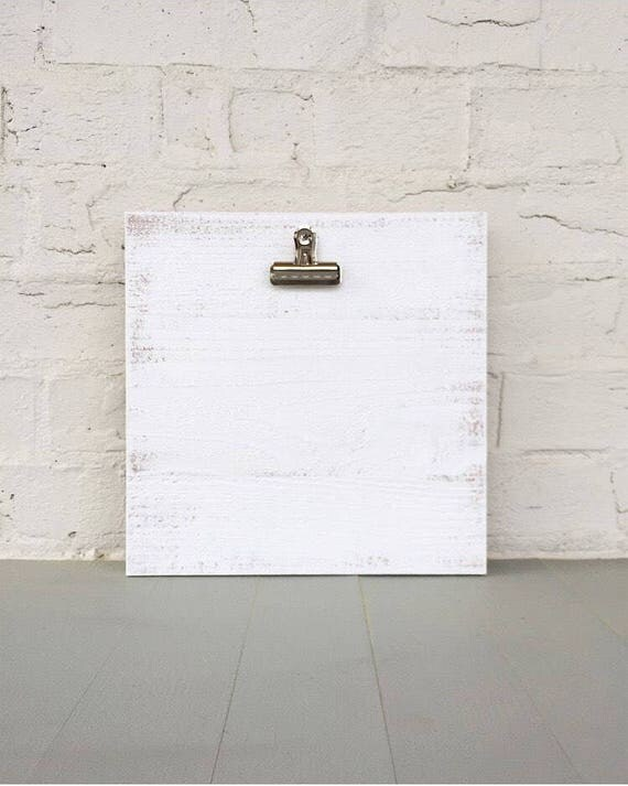 Clipboard Art Photo Frame in White