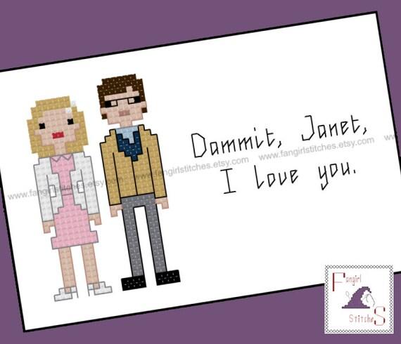 Rocky Horror Picture Show Dammit Janet Cross Stitch Pdf