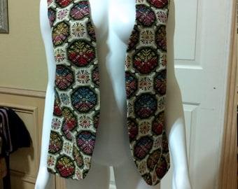 Amazing Vintage 1960's Aladdin Carpet Hippie Vest,CarpetVest, Bohemian vest, Hippie Vest aprox size S/M