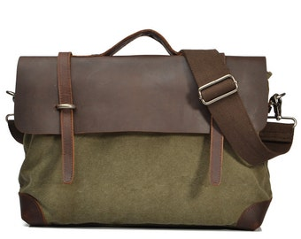 Waxed Canvas Bag, Leather Backpack, Waxed Backpack, Wax Canvas Backpack, Waxed Leather Rucksack, Leather Bag, Leather Mens