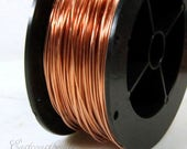 Copper Wire, 18 Gauge, Dead Soft, Solid Copper Wire, Jewelry Quality Copper Wire, Jewelry Wire Wrapping, High, Sold in 20 Ft. Length, 004