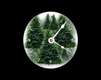 Maine Pine Trees CD Clock