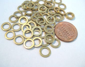 20pcs Brass Closed Round Links Rings ( No.578)