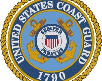 US Coast Guard pattern, cross stitch pattern, USCG cross stitch, Coast Guard embroidery, Coast Guard needlepoint USCG insignia, patriotic