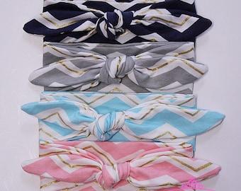 Baby Headband - Baby Girl headband - top knot headband - Knotted Headband - baby gift - baby knot headband - baby turban headband CH01